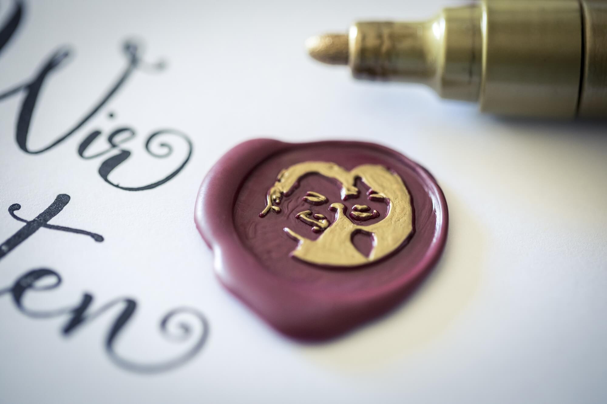 Siegel-Hochzeitslogo-Foto-Gesicht-Brautpaar-personalisiert-Hochzeit