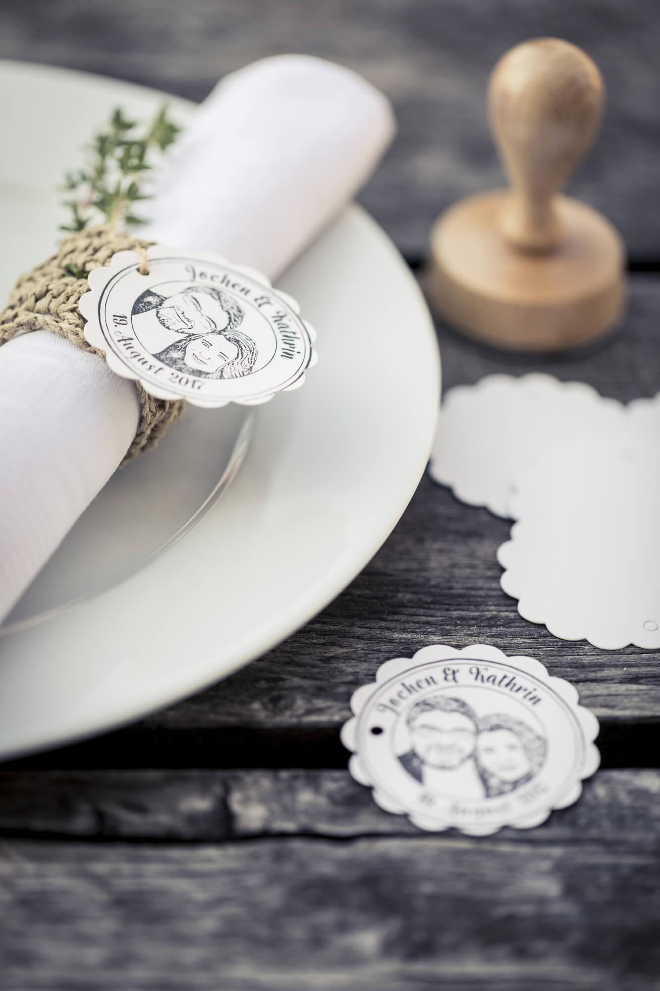 Hochzeit-Tischdeko-Serviette-Stempel-Fotostempel-Fotogruesse